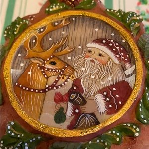 G. DeBrekht handcrafted Santa Christmas ornament